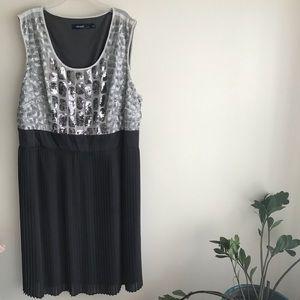 Silver Eloquii Cocktail Dress